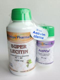 Super lecitin 1250mg. + ZDARMA Activin 50mg.